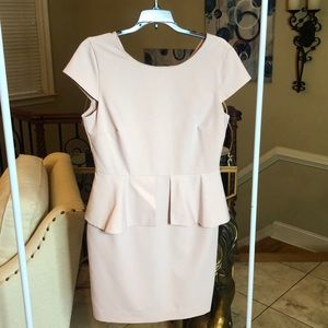 Blush Pink Formal Peplum Dress